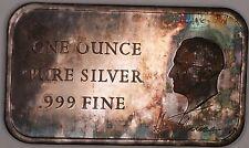 President Harry S Truman  999 Fine Silver 1 Ounce Ingot Beautiful Toning