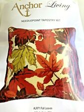 Anchor Living Fall Leaves Needlepoint Tapestry Kit Martha Negley 2014 NEW *Rare*