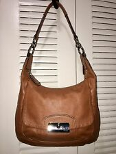 COACH 19293 CAMEL BROWN ' KRISTIN ' LEATHER SHOULDER HOBO HANDBAG PURSE SATCHEL