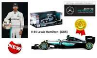BURAGO 18001 MERCEDES AMG PETRONAS W07 Hybrid F1 model car Lewis Hamilton 1:18th