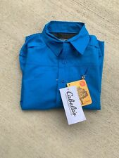 NWT Cabelas UPF 50+ Boys Youth XS Long Sleeve Outdoor Shirt 4/5 Made Shade