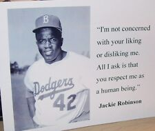 "Jackie Robinson-Photo And Quote-8 1/2"" by 11"""