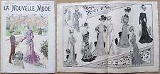 La Nouvelle MODE, N.48, 1899_Rivista di moda illustrata con paginone centrale* >