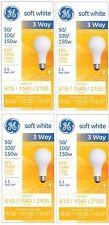 GE 97494 Lighting 50/100/150-Watt 3-Way Light Bulb Soft White 4-Pack 4 Pack