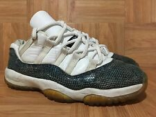 RARE🔥 Nike Air Jordan 11 XI Snake Low White Snakeskin Black Navy 7.5 136071-102