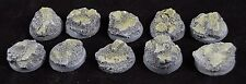 25mm (10) Eldar Ruins Aeldari Slate Rock Resin Miniature Base Warhammer 40k
