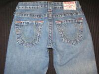 True Religion Bobby Jeans Womens Sz 25 Low Bootcut 100% Cotton