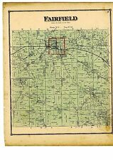 1870 Map of Fairfield, Ohio, with family names, from Atlas of Columbiana County