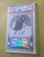 Christian Yelich 2010 Bowman Sterling Auto Refractor RC PSA 9 Mint #d/199 Rookie