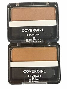 COVERGIRL CHEEKERS BRONZER PICK A SHADE 102 Copper Radiance, 104 Golden Tan