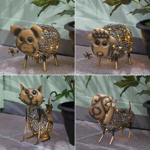 Solar Power Novelty LED Light Up Animal Ornament | Garden Path Patio Decoration