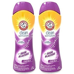 (2) Arm & Hammer Clean Scentsations Odor Blasters in-Wash Scent Booster, Fresh