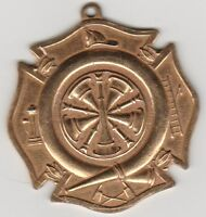 (W)  Token - Fire Department Medal - 45 MM Brass