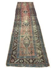"Antique Heriz Bakhshayesh Persian Rug Runner 3'2"" x 11'9"" Collectible 18th C"