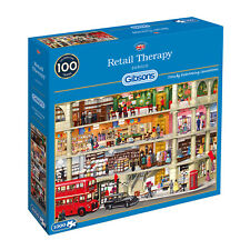 GIBSONS RETAIL THERAPY 1000 PIECE BY SERGIO JIGSAW PUZZLE G62 NEW SEALED