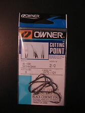 Owner Cutting Point size 2/0 Aki Hook Salt Water Special Black Chrome 5170-121