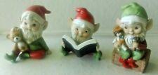 Set of 3 Homco 5406 (2) 5618 (1) Santa's Helpers Elves, Pixies, Sprites Figurine