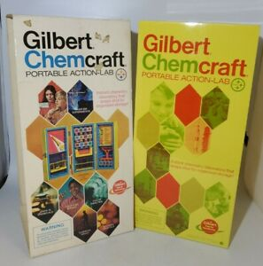 Vintage Gilbert Chemcraft Portable Action Lab Chemistry Metal Case NEW OLD STOCK