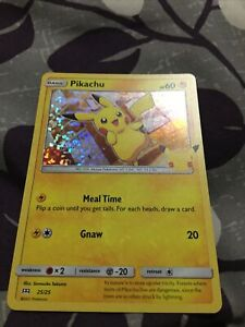 2021 Pokémon PIKACHU HOLOGRAM CARD McDonald's Happy Meal Toy SHIPS Next Day