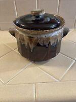 Vintage Brown Drip Canister/Cookie Jar