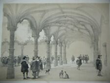 DAY & HAGUE LOUIS HAGHE LITHOGRAPH 1840 THE BOURSE ANTWERP BELGIUM & GERMANY