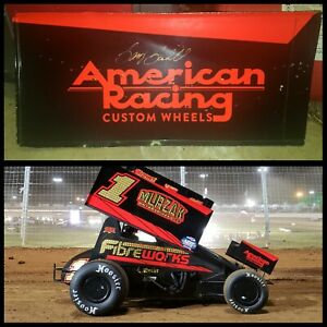 Autographed Sammy Swindell Front Wing Panel Sprint Car Race Used Charlotte Side