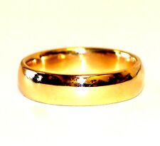 10k yellow gold 6.19mm mens or womens wedding band ring 8.0g size 10.5 estate