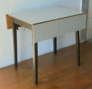 VINTAGE RETRO MID CENTURY EXTENDING DROP LEAF FORMICA KITCHEN DINING TABLE
