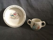 Wedgwood Etruria Beatrix Potter  Peter Rabit  2 Handle Cup Bowl