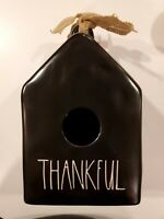 "Rae Dunn ""THANKFUL"" Black Birdhouse,  New! HTF"