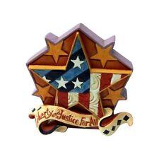New Enesco Jim Shore Heartwood Creek Mini Patriotic Star