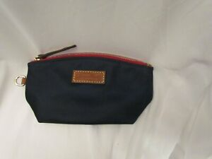 Dooney and Bourke Nylon Cosmetic Pouch NAVY BLUE Lined 7.5 x 3.5