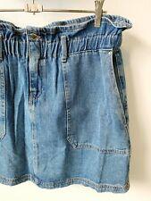 Paperbag Waist Denim Mini Skirt Size 16-18