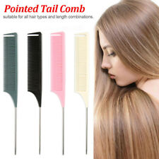Fine-tooth Comb  Metal Pin  Hair Styling  Anti-static Rat Tail Comb Hair Style
