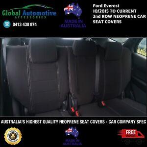 FITS Ford Everest 2nd Row Neoprene Seat Covers Ambiente Trend Titanium UA UAII