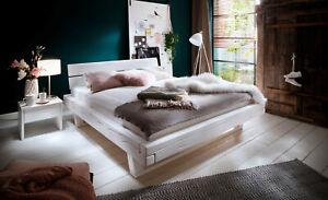 Monaco Balkenbett Bett 180x200 Fichte Weiß