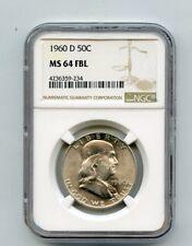1960-D Silver Franklin Half Dollar (MS64 FBL) NGC