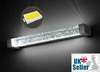 K9 Crystal LED Wall Light Mirror Front Sconce Lamp Fixture IP44 SMD 3 Colours