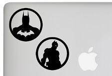 2 x 10cm Batman Arkham Knight Decal Car Macbook Laptop Sticker DC City Asylum