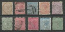 Cats 10 Number British Colony & Territory Stamps