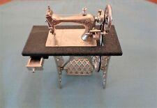 VINTAGE SEWING MACHINE, MINIATURE- PEDDLE, WHEEL DRAWER WORK