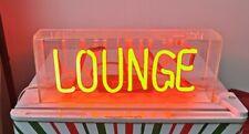 "Lounge Neon Light Sign Lamp Beer Pub Acrylic 14"" Real Glass Handmade Artwork"