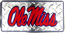 Mississippi Rebels Ole Miss Diamond License Plate Tag Wall Sign Cave FAST SHIP