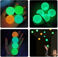 4Pcs Ceiling Sticky Ball Puzzle Game Reaction Game Luminous