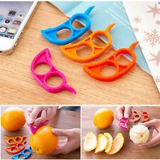 2pcs Citrus Orange Opener Peeler Slicer Cutter Plastic Lemon Fruit Skin Remover