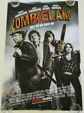 ZOMBIELAND 27X40 DS MOVIE POSTER ONE SHEET NEW AUTHENTIC