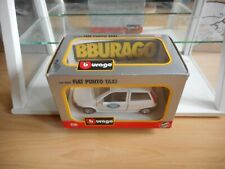 Bburago Burago Fiat Punto Radio Taxi in White on 1:24 in Box