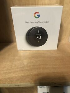 Google Nest Learning Thermostat 3rd Generation Black  Brand New In Sealed Box