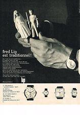 PUBLICITE ADVERTISING  1963   FRED LIP  montre