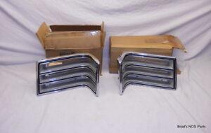 NOS MoPar 1967 Chrysler Newport Tail Lamp CHROME DIECAST Bezels Matching  Pair